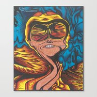 fear and loathing Canvas Prints featuring Fear and Loathing  by Katrina Berkenbosch
