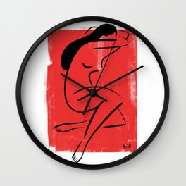 Red Girl 1 Wall Clock