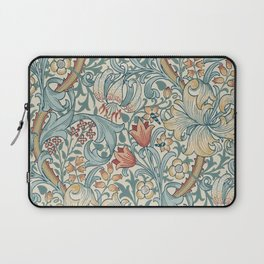William Morris Vintage Golden Lily Slate Blue & Manilla Laptop Sleeve