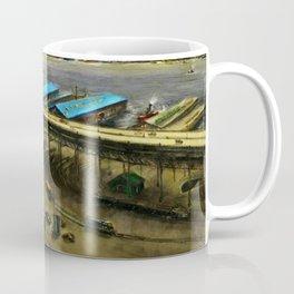 American Masterpiece 'Railroad Yard Along the River' by Lamar Dodd Coffee Mug