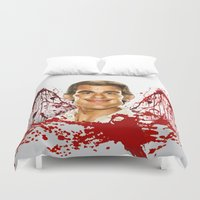 dexter Duvet Covers featuring Dexter by Giampaolo Casarini