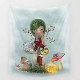 Winter Green Wall Tapestry