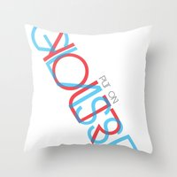 3d Throw Pillows featuring 3D. by Grant Pearce