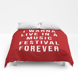 Live Music Festival Quote Comforters