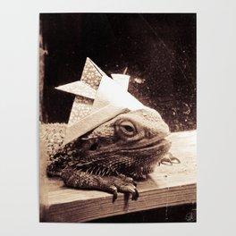 Paper Samurai, Bearded Dragon, Lizard Poster