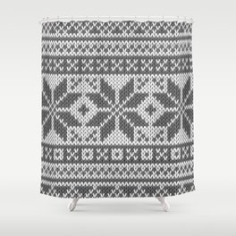 Winter knitted pattern4 Shower Curtain