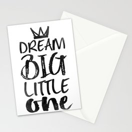 PRINTABLE Art,NURSERY DECOR,Dream Big Little One,Inspirational Quote,Motivational Print Stationery Cards