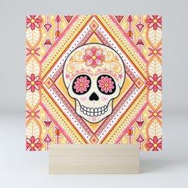 Sugar Skull Art - Day of the Dead Skull Art by Thaneeya McArdle Mini Art Print