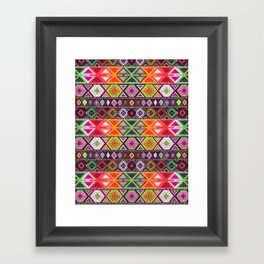 N247 - Colored Oriental Traditional Boho Moroccan Style Framed Art Print