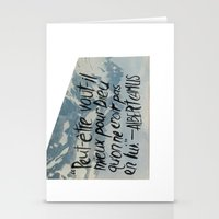 camus Stationery Cards featuring OH NO CAMUS AGAIN by Josh LaFayette