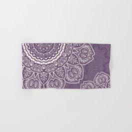 Mandala Tulips in Lavender ad Cream Hand & Bath Towel