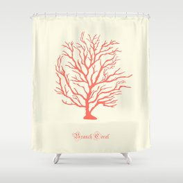 AFE Branch Coral, Living Coral Shower Curtain