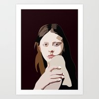 goth Art Prints featuring Mia Goth by Anna McKay