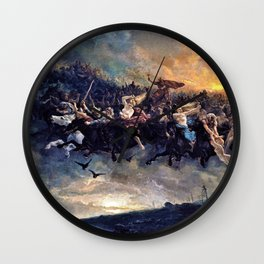 Peter Nicolai Arbo - The Wild Hunt of Odin - Digital Remastered Edition Wall Clock