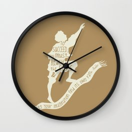 To Succeed you Must Reach for the Stars and Let you Imagination find its own Path - Aladdin Wall Clock