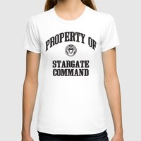 stargate T-shirts featuring Property of Stargate Command Athletic Wear Black ink by RockatemanDesigns