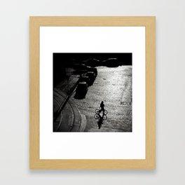 The cyclist Framed Art Print