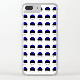 Flag of estonia 3-estonian,baltic,tallinn,tartu,eesti,balti,slav,viking,baltico,parnu Clear iPhone Case