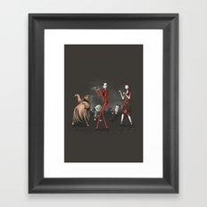Thriller before Christmas Framed Art Print