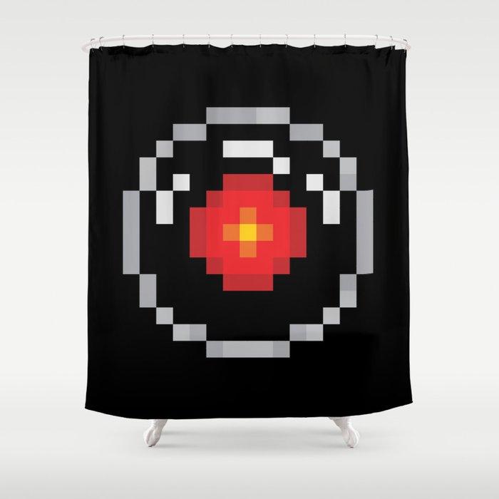 2001: A Pixel Odyssey Shower Curtain