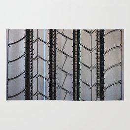 Tread pattern truck tire Rug