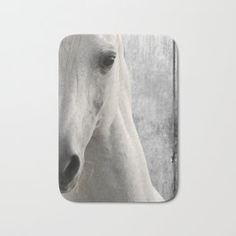 Horse Photography White Horse Close Up Modern Home Decor Gift for the Equestrian Art A833 Bath Mat