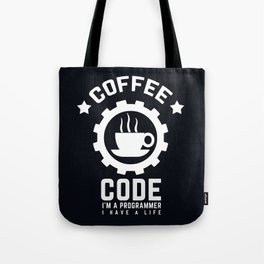 Programmer - Coffee And Code Tote Bag