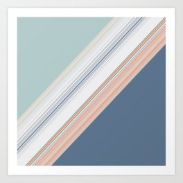 Mint Green Blush Blue Design Art Print