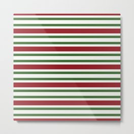 Merry Christmas colors striped lines Metal Print