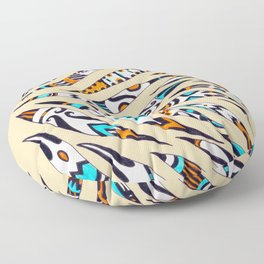 Inky Whimsical Funky Pattern Floor Pillow