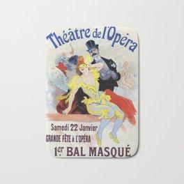 1897 Masquerade ball Paris Opera Bath Mat