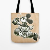 bombs away Tote Bags featuring BOMBS AWAY by Tim Shumate