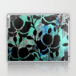 Black stencils flowers Laptop & iPad Skin