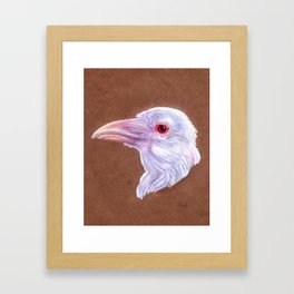 White Raven Framed Art Print