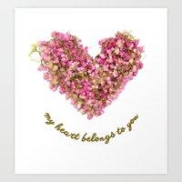 my heart belongs to you Art Print