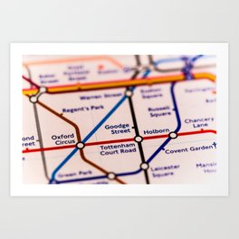 Going (London) Underground Art Print