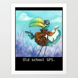 Old school GPS. Art Print