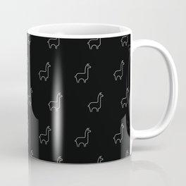 Baesic Llama Pattern (Black) Coffee Mug