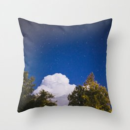 Sweet Dreams - Big White Cloud - Night Sky Stars Night Photography Throw Pillow