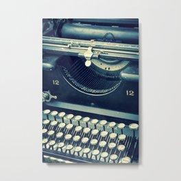 Maquina de Escribir Metal Print