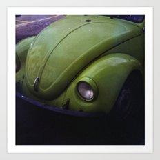 THE VINTAGE GREEN CAR  Art Print