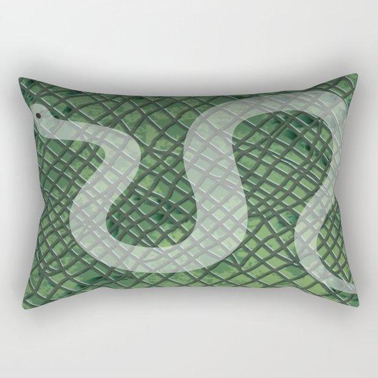 Snakeskin and snake Rectangular Pillow