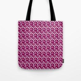 Lattice Pattern (Purple) Tote Bag