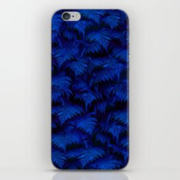 Deep Blue Fern Plant Wall iPhone Skin