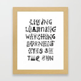 Things Yet To Come Framed Art Print