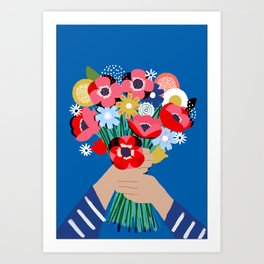 Darling Posy Art Print