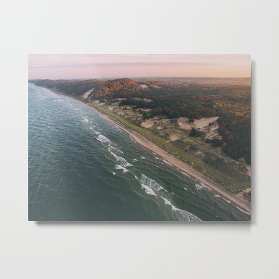 Coastal Sunset - Pink Sky Metal Print