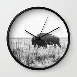 Bison strut Wall Clock