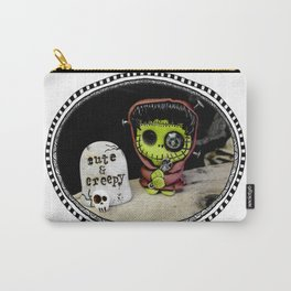 Cutenstein: green monster with steampunk look Carry-All Pouch