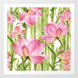 Tropical floral pattern #2 Art Print